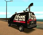 Ford E150 - Fox 11 News Van для GTA San Andreas вид изнутри