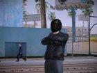 Biker Helmet Heists DLC GTA V Online для GTA San Andreas вид сзади слева