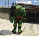 Gladiator Hulk (Planet Hulk) 2.1 for GTA 5 top view