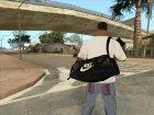 Кожаная сумка Nike для GTA San Andreas вид сзади слева