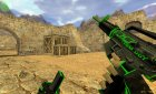 Green/black M4A1! for Counter-Strike 1.6 rear-left view