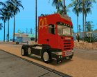 Scania R620 McDonald's for GTA San Andreas rear-left view