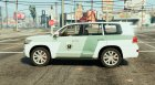 Toyota Land Cruiser Saudi Traffic Police для GTA 5 вид слева