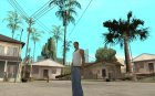 Бита с чёрной повязкой для GTA San Andreas вид слева
