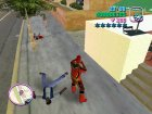 Red Power Ranger Skin for GTA Vice City rear-left view