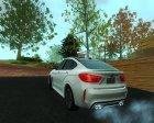BMW X6M 2015 for GTA San Andreas rear-left view