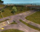 Осенние текстуры дорог для Euro Truck Simulator 2 вид сзади слева