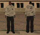 Зимний худи для GTA San Andreas вид сбоку