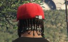 Red LA Cap for GTA 5 rear-left view