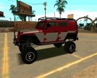Jeep Wrangler 2013 для GTA San Andreas вид слева