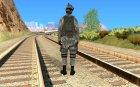 Солдат в городском камуфляже for GTA San Andreas rear-left view