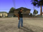 CJ в футболке (GameModding) для GTA San Andreas вид сзади слева