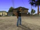 CJ в футболке (GameModding) для GTA San Andreas вид сзади слева