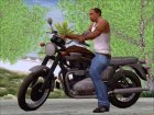 Motorcycle Triumph from Metal Gear Solid V The Phantom Pain for GTA San Andreas inside view