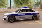 Audi S4 - Croatian Police Car для GTA San Andreas вид слева