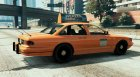 San Andreas Stanier Taxi V1 for GTA 5 rear-left view