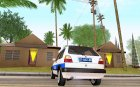 Volkswagen Golf Mk2 Policija для GTA San Andreas вид сзади слева