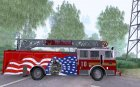 Seagrave FDNY Ladder 10 for GTA San Andreas top view