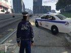 Russian Traffic Officer Dark Blue Jacket для GTA 5 вид изнутри