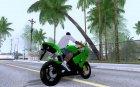 2006 Kawasaki Ninja ZX 6R for GTA San Andreas rear-left view
