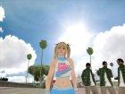 Dead Or Alive 5 Ultimate - Cheerleader Outfit для GTA San Andreas вид слева