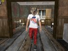 Skin HD GTA V Online guy in a Wolf mask