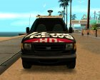 Ford E150 - Fox 11 News Van для GTA San Andreas вид слева