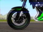 Kawasaki Z800 Monster Energy для GTA San Andreas вид сзади