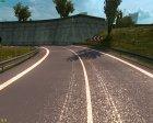 Осенние текстуры дорог для Euro Truck Simulator 2 вид слева