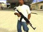 Чёрный AK47 for GTA San Andreas right view