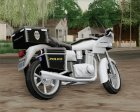 Police Bike Metropolitan Police for GTA San Andreas rear-left view