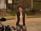 Biker Girl from GTA Online для GTA San Andreas вид сзади слева