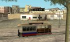 Tram, painted in the colors of the flag v.1.2 by Vexillum для GTA San Andreas вид слева
