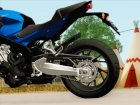 Honda CB650F Azul для GTA San Andreas вид справа