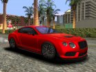Bentley Continental GT3R 2015 для GTA San Andreas вид слева