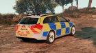 Police Vauxhall Insignia Estate v1.1 для GTA 5 вид сзади слева