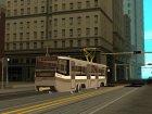 Трамвайный вагон типа 71-619 КТ (КТМ-19) для GTA San Andreas вид сзади слева