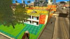 Motel Jefferson в ярких и тёплых тонах для GTA San Andreas вид сзади слева