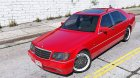 Mercedes-Benz W140 AMG 2.0 for GTA 5 inside view