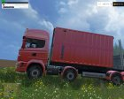 Scania R730 BRUKS V2.0 для Farming Simulator 2015 вид слева