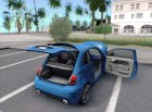 Fiat 500 Abarth 2008 for GTA San Andreas rear-left view