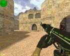 AK-47 - Green Force for Counter-Strike 1.6 top view