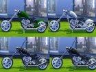 Мотоцикл  Esmeralda для Sims 4 вид сзади слева
