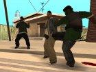 Разные стили борьбы актёров для GTA San Andreas вид сзади