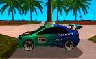 Mitsubishi Evo X Falken для GTA San Andreas вид слева
