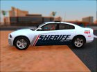 2013 Dodge Charger Red County sheriff's office для GTA San Andreas вид слева
