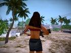 Девушка из загрузочного экрана - 2 для GTA San Andreas вид сзади слева