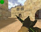 AK-47 - Green Force for Counter-Strike 1.6 inside view