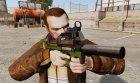 Бельгийский пистолет-пулемёт FN P90 v2 for GTA 4 rear-left view