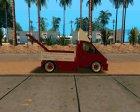 Gazelle Tow Truck для GTA San Andreas вид сзади слева